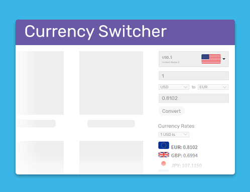 Free WooCommerce Currency Switcher plugin by WooBeWoo