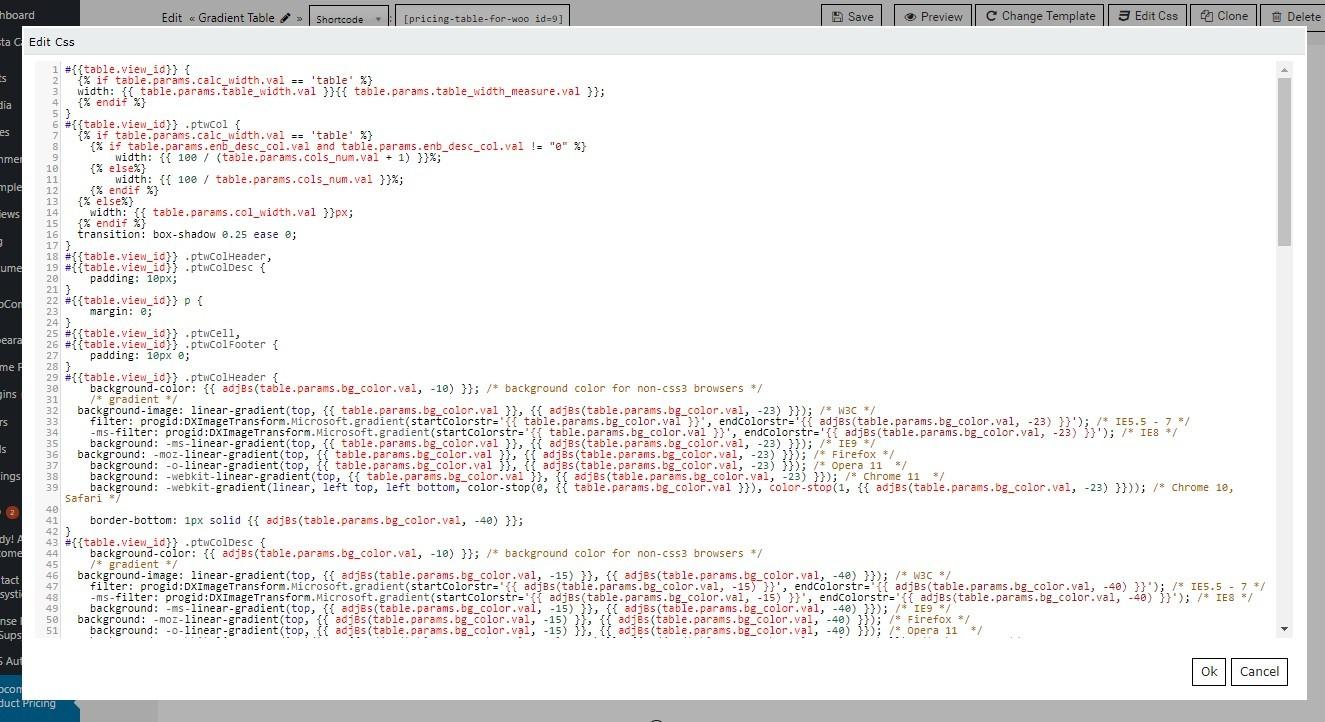css editor window