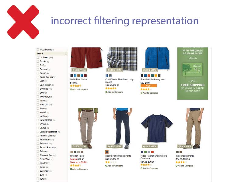 filtering representation example 2