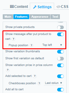 Popup position