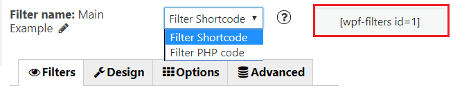 filter product shortcode