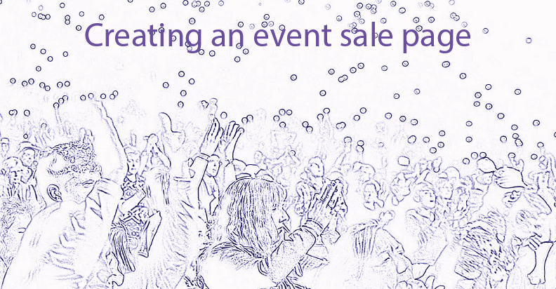 event sale page