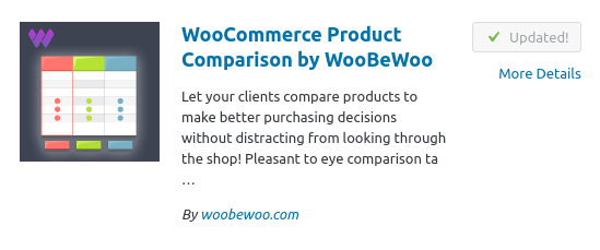 WooCommerce Product Comparison by WooBeWoo
