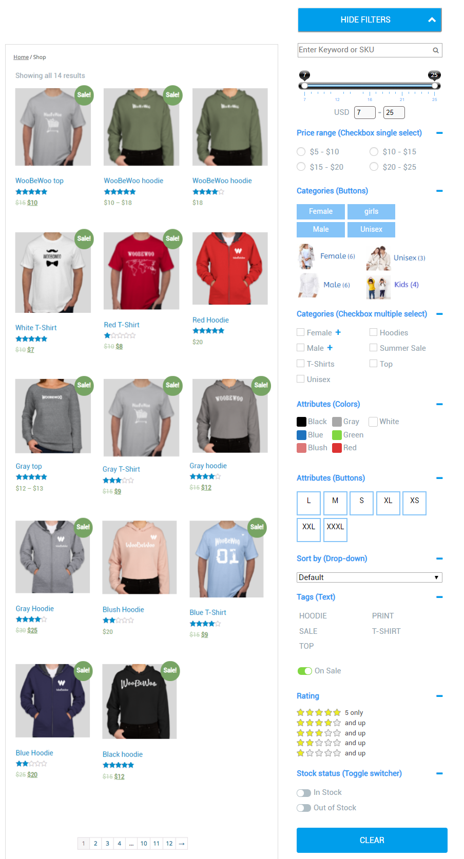 WooCommerce Product Filter 8