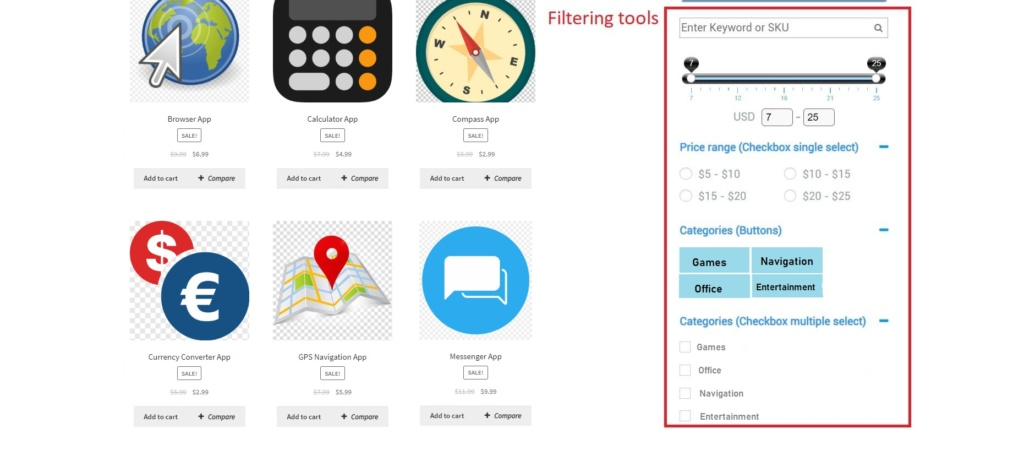 Wordpress product filter plugin is a simple and reliable sorting tool for digital store