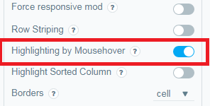 Highlighting-by-Mousehover