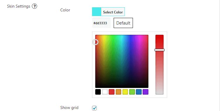 Display price filter