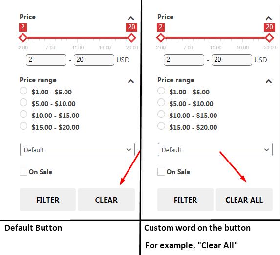 Custom button clear all