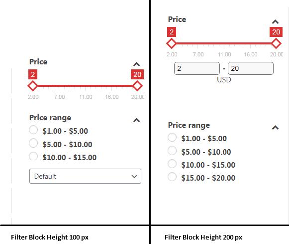 Filter Block Height