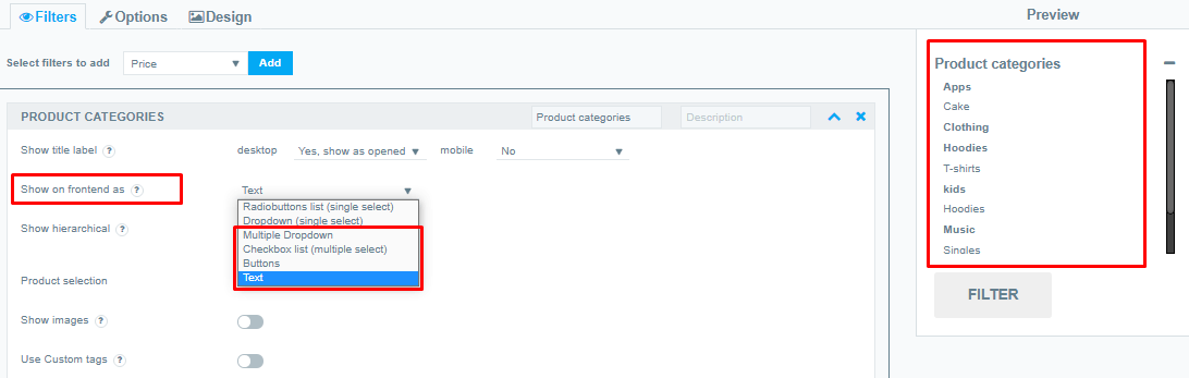 multiple PRODUCT CATEGORIES